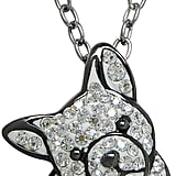 Animal Planet Crystal Sterling Silver French Bulldog Pendant Necklace ($250)