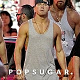 Channing Tatum flaunted his tan while filming scenes for Magic Mike XXL in Savannah, GA, on Tuesday.