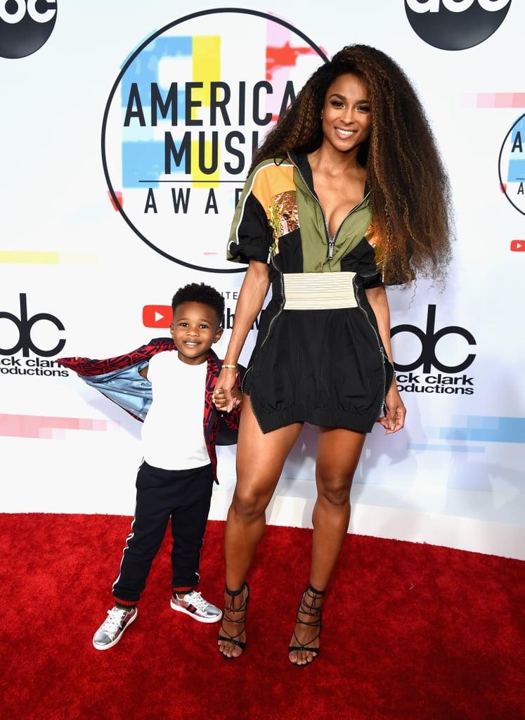 "While we love seeing Ciara and her husband, Russell Wilson, show off their sweet romance on the red carpet, seeing her with her son might be even cuter! The 32-year-old singer brought her 4-year-old son, Future Zahir, as her date to the 2018 American Music Awards. The mom-and-son duo kept it casually cool for their strut down the red carpet, though Ciara always looks amazingly fierce no matter what she's wearing. The mom of two is scheduled to perform her hit single ""Level Up"" tonight, marking her first time hitting the AMAs stage since 2015. Ahead, check out Ciara and her adorable date on the AMAs red carpet.      Related:                                                                                                           Hot Damn — the AMAs Red Carpet Was the Fashion Party We Weren't Prepared For"