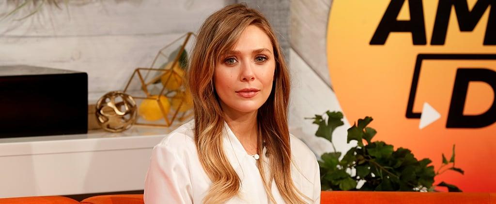 Elizabeth Olsen Debuts Curtain Bangs and Brown Hair Colour