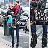 Miranda Kerr did it again with this dressed-down mix. Get the look.