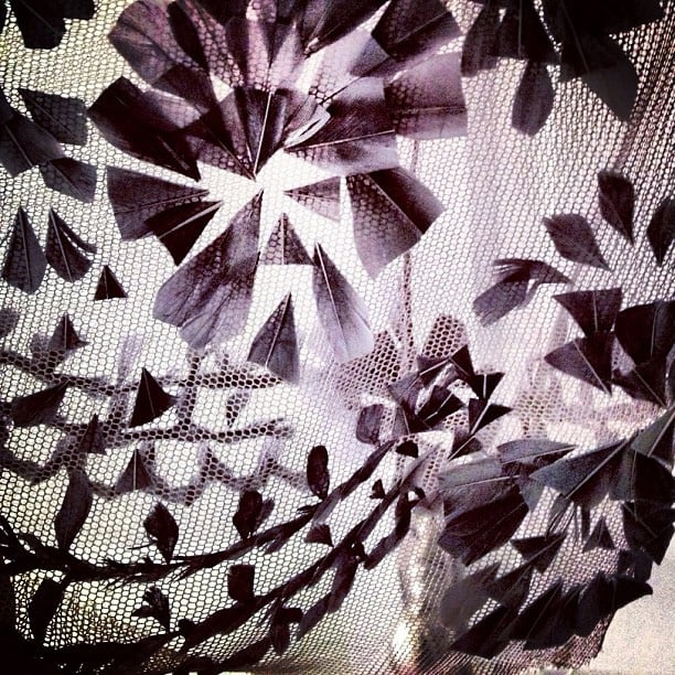 Karlie Kloss previewed some of her Louis Vuitton dress. Source: Instagram user karliekloss