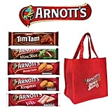 Arnott's Biscuits Showbag ($13.50) Includes:  Shopping Bag  Monte Carlo  Iced Vovo