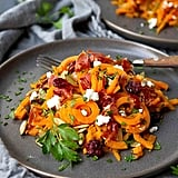 Sweet Potato Noodles With Prosciutto and Cranberries