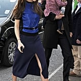 Victoria Beckham and David Beckham brought Harper along for an outing in London.
