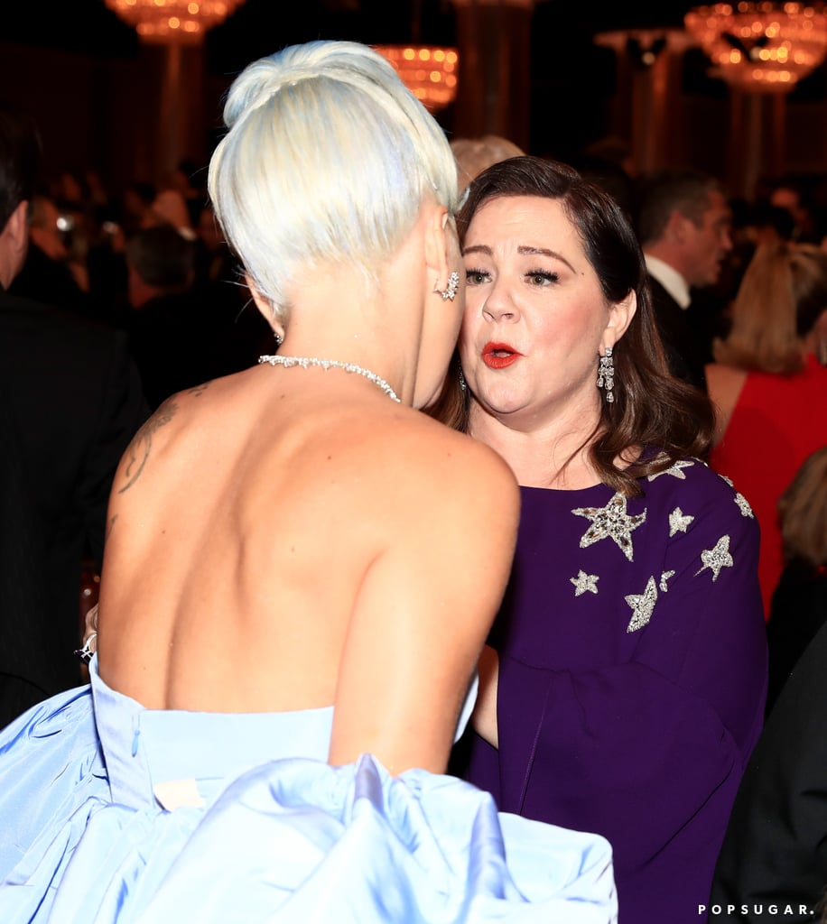 Pictured: Lady Gaga and Melissa McCarthy