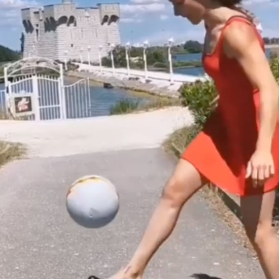 Watch Freestyler Melody Donchet Do Soccer Tricks in Heels