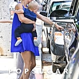 Kate Hudson carried baby Bingham in LA.