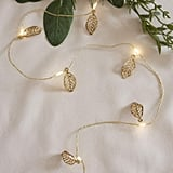 Gold Leaf Battery Operated Micro LED Fairy String Lights