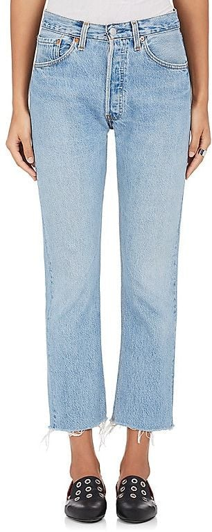 Re/Done High-Rise Crop Flare Jeans