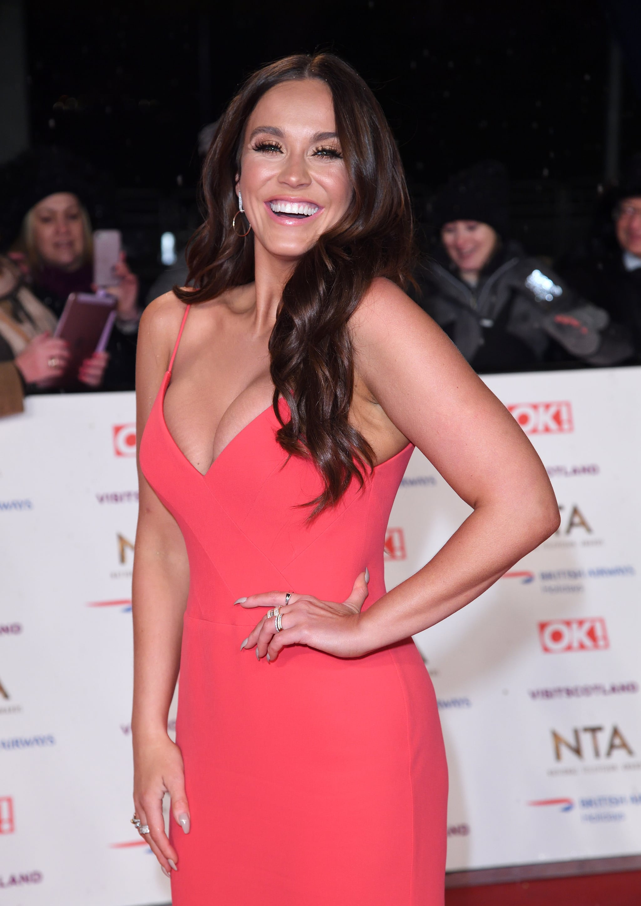 LONDON, ENGLAND - JANUARY 22:  Vicky Pattison attends the National Television Awards held at The O2 Arena on January 22, 2019 in London, England.  (Photo by Karwai Tang/WireImage)