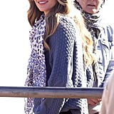 Gisele Bundchen smiled during a shoot in Brazil.