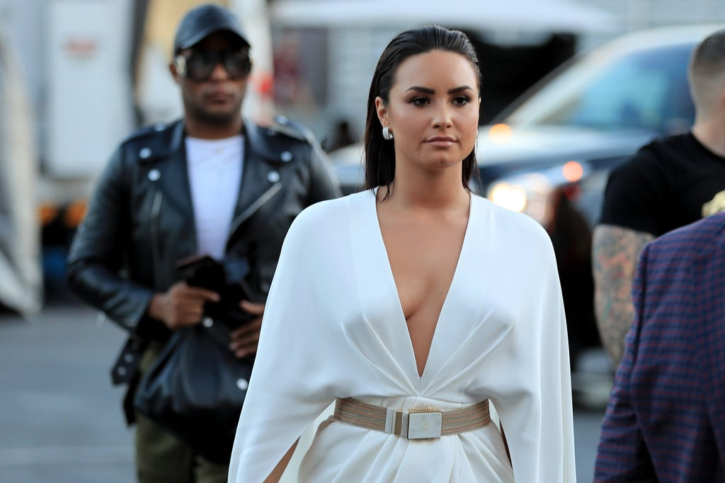Demi Lovato Wears White Dress While Singing National Anthem