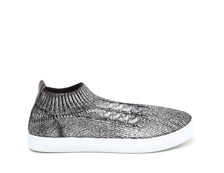 Go cozy-cool (and wallet-friendly) in these GoJane Sock Away Metallic Knit Sneakers ($22).