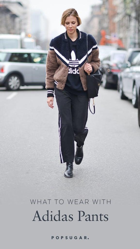 buy popular 36b67 6003f What to Wear With Adidas Pants   POPSUGAR Fashion