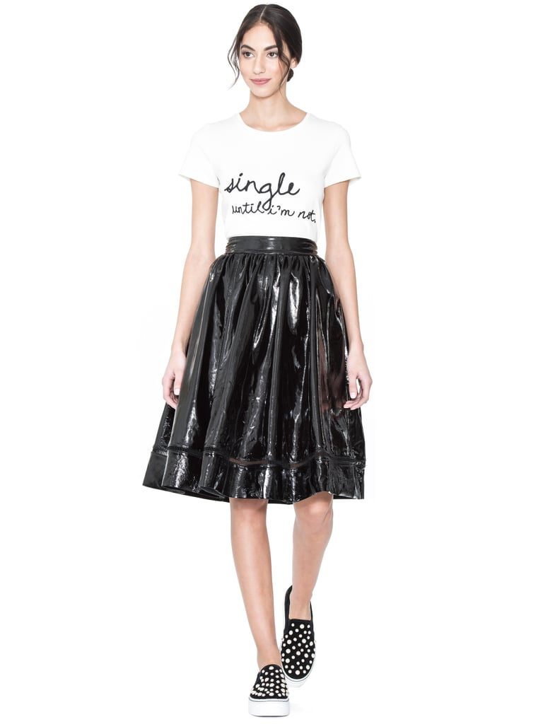 Alice + Olivia Rylyn Embroidered Short Tee