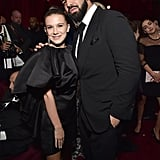 Drake and Millie Bobby Brown at Netflix Golden Globes Party