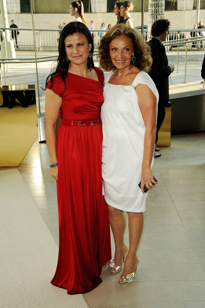 Host Tracy Ullman in Doo.ri and Diane von Furstenberg in her own design
