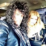 Fergie and Josh Duhamel got into character for the Rock of Ages premiere. Source: Twitter user Fergie