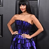 Jameela Jamil Wore $52 ASOS Boots Under Her Grammys Dress