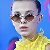 Millie Bobby Brown Yellow Dress at Teen Choice Awards 2017