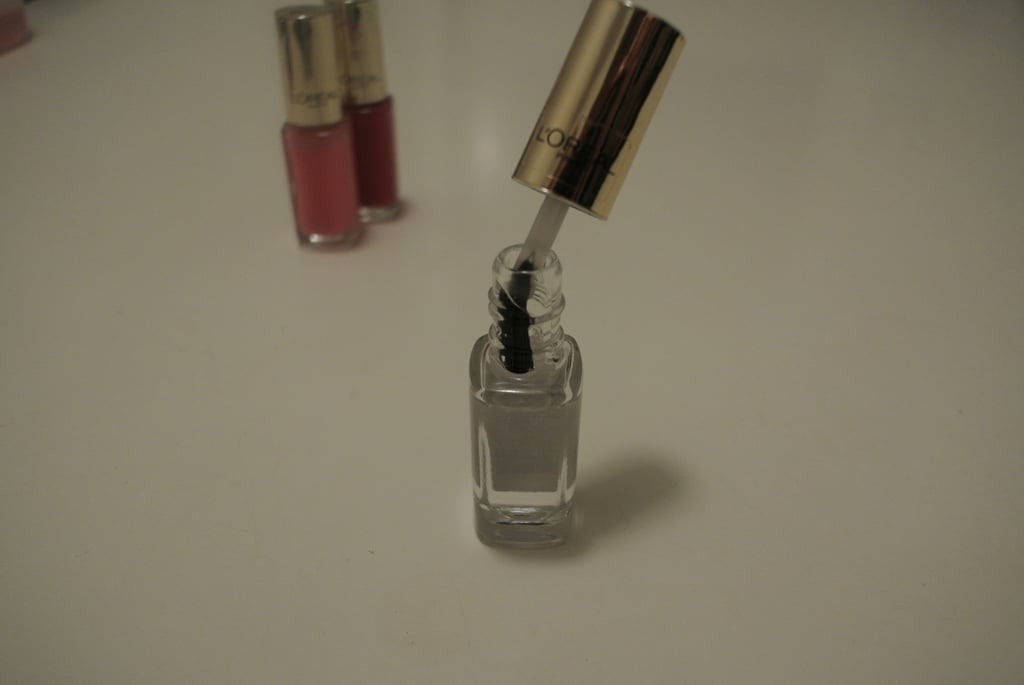 I finished with a generous application of L'Oreal Paris Colour Riche Le Vernis in Parisian Crystal — an ultra-glossy top coat.