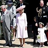 Doria Ragland, Prince Charles, Camilla, Duchess of Cornwall, Prince George, Prince William, Princess Charlotte, Kate Middleton