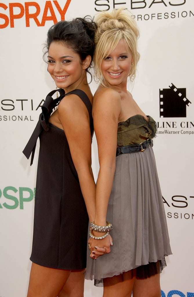 "High School Musical's Sharpay and Gabriella may not have been the best of friends, but the actresses who played them, Ashley Tisdale and Vanessa Hudgens, couldn't be closer. After meeting on the set of their hit Disney Channel original movie in 2006, the ladies hit it off right away. Even after saying goodbye to the franchise in 2008, their friendship has only gotten stronger.  Aside from hugging it out on the red carpet and showing off their love each other on social media, the two are always there to cheer each other on. While Ashley supported Vanessa during her Broadway debut in Gigi, Vanessa served as one of Ashley's bridesmaids when she tied the knot with musician Christopher French in 2014. And they're still making sweet music together. Just last year, the ladies made our teenage dreams come true when they sang their first duet together on Ashley's YouTube channel. It goes without saying that their friendship is absolutely ""fabulous.""      Related:                                                                                                           High School Musical: Where Are the Stars Now?"