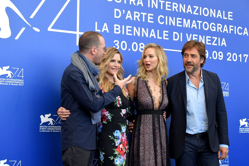 "Jennifer Lawrence arrived at the Venice Film Festival this week to promote her upcoming psychological thriller, Mother!. The 27-year-old actress was seen leaving the airport with her boyfriend — and the director of the film — 48-year-old Darren Aronofsky. Jennifer then attended a press conference with fellow cast members Javier Bardem and Michelle Pfeiffer.  Though the couple have been photographed together in the past, the star-studded event marks their first official red carpet appearance. As they continue to promote Mother! leading up to its release on Sept. 15, it's likely that they will attend plenty of events together. That being said, they kept it pretty professional at the Venice Film Festival and didn't pose directly next to each other — leaving Michelle hilariously stuck in the middle.      Related:                                                                                                           Jennifer Lawrence Reveals Why She Told Boyfriend Darren Aronofsky to ""Go F*ck Yourself"""