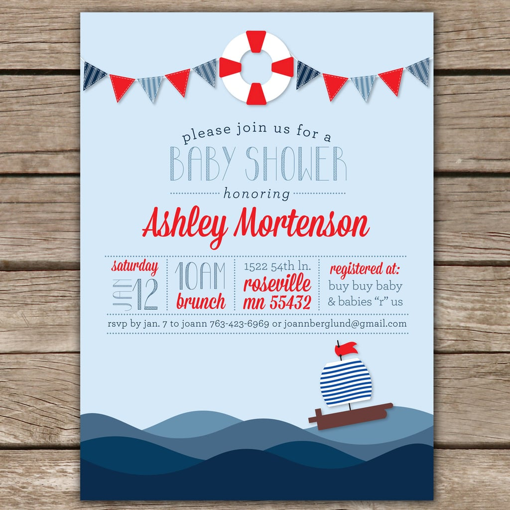 Kim Nelson Creative\'s Nautical Shower Invite | Digital Baby Shower ...
