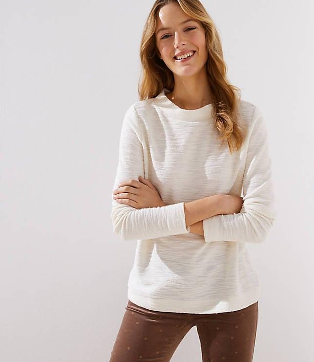 Boucle Mock Neck Sweatshirt