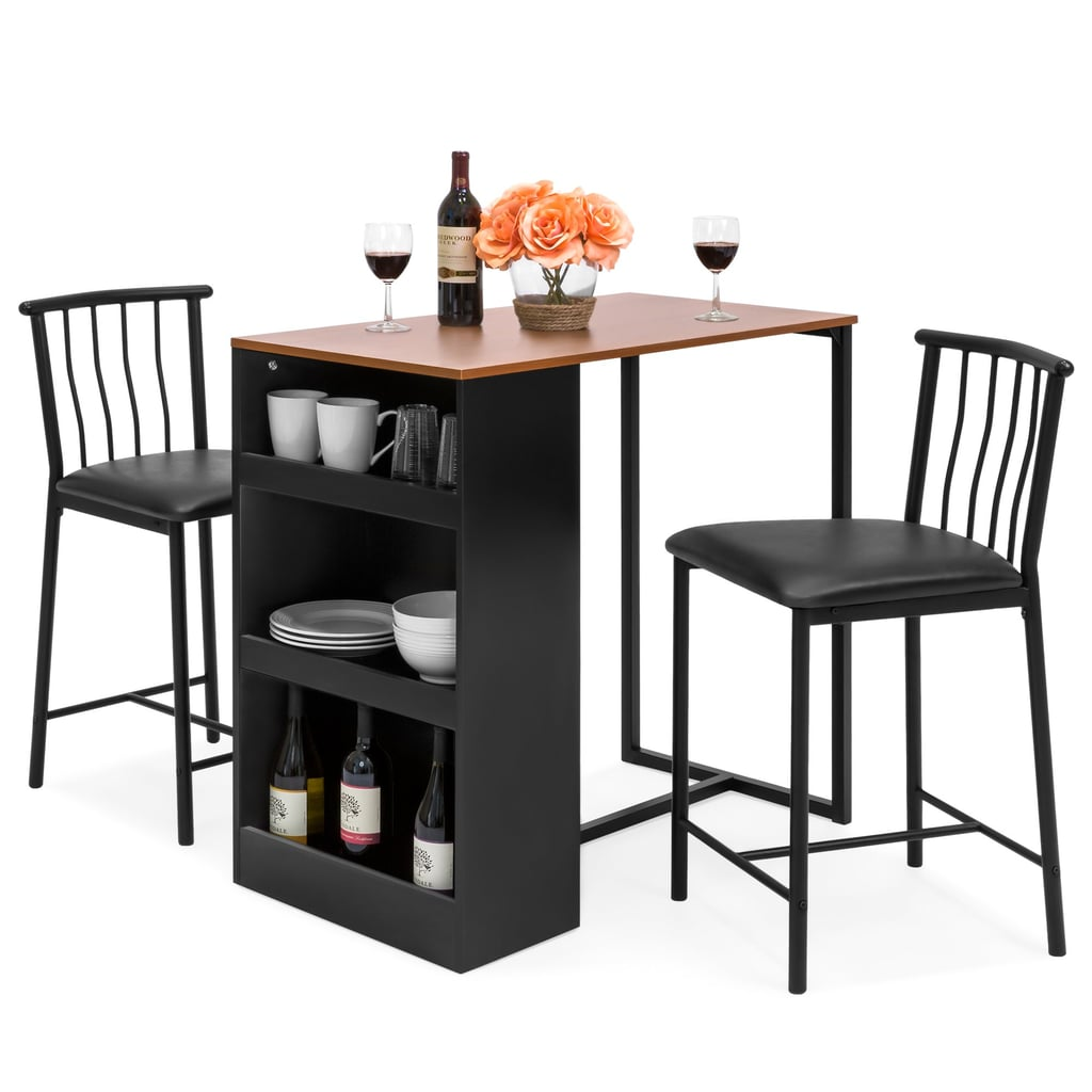 14 Space Saving Small Kitchen Table Sets 2019: Best Choice Products 36-Inch Wooden Metal Kitchen Counter