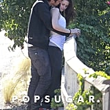 Rupert Sanders kissed Kristen Stewart's cheek.
