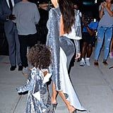 Kim Kardashian and North West in Matching Vetements Dresses
