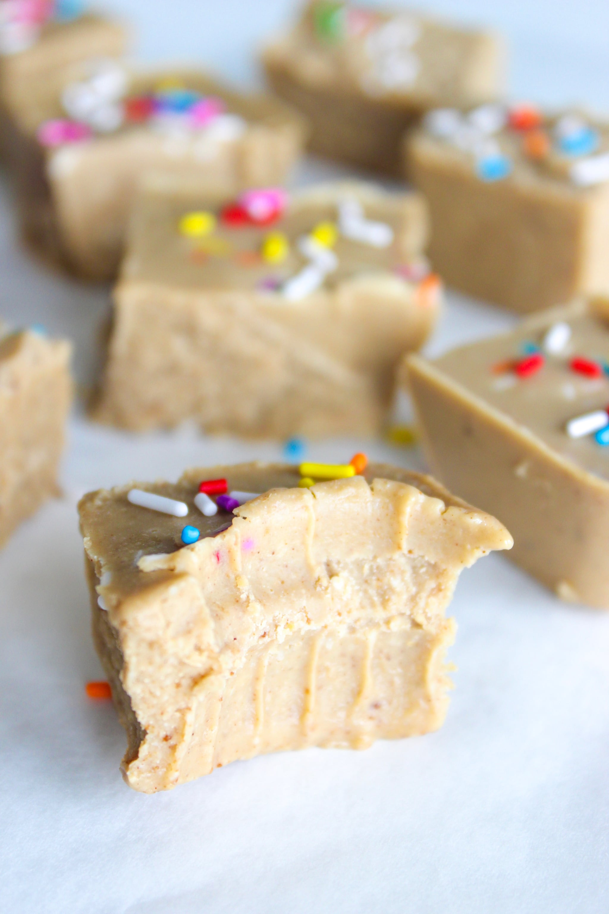 Combat Hunger and Cravings With This Adorable Keto Birthday Cake Fudge