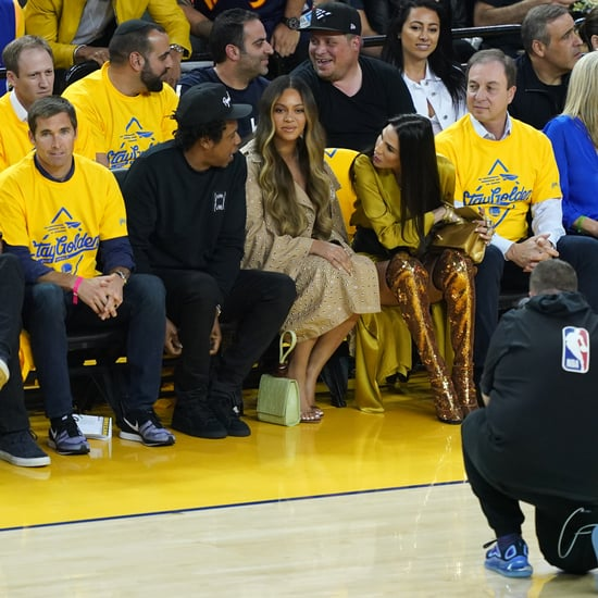 Nicole Curran Leaning Over Beyoncé at Warriors Game 2019