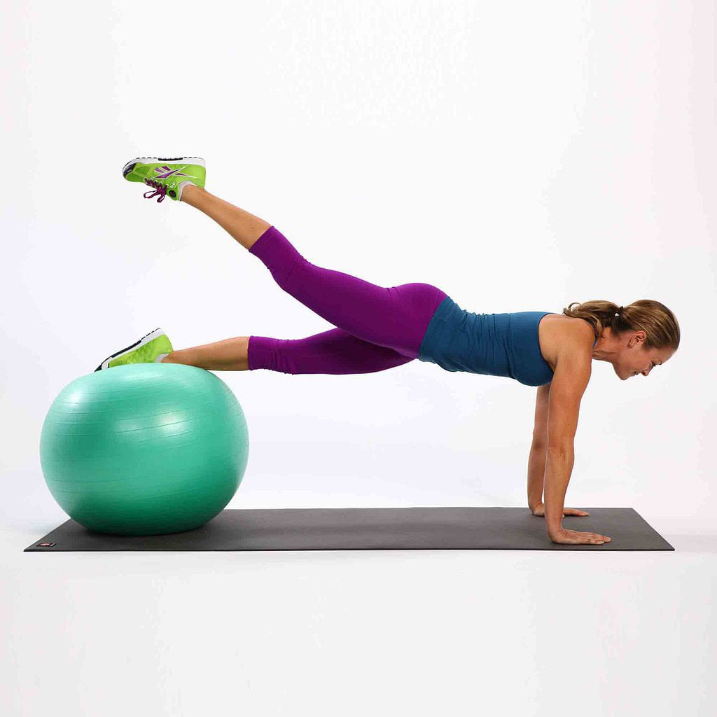photograph regarding Printable Exercise Ball Workouts known as Easiest Equilibrium Ball Physical exercises POPSUGAR Health