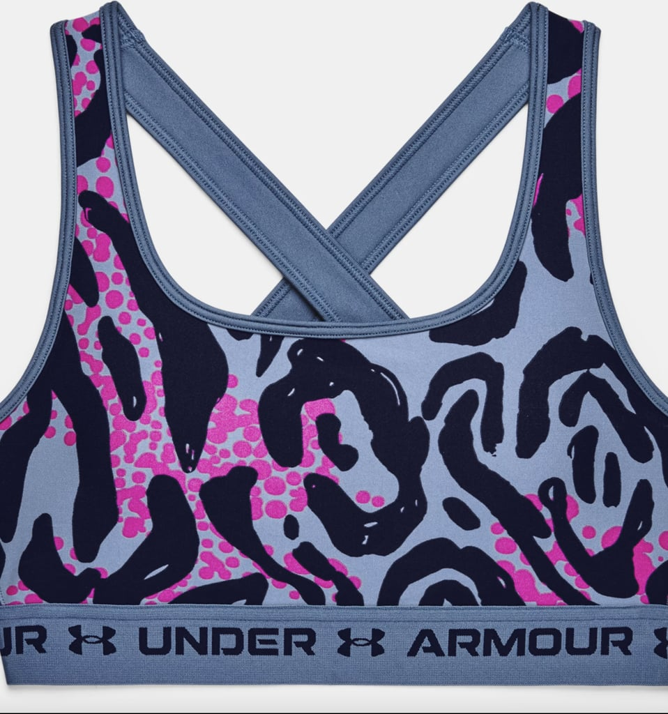 Armour® Mid Crossback Printed Sports Bra