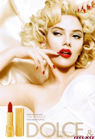 Scarlett johansson Dolce and Gabbana cosmetics ads 2009