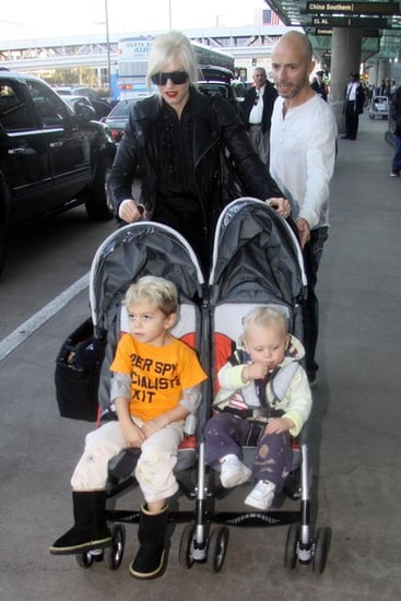 Gwen Stefani and family at LAX to catch a flight out of town