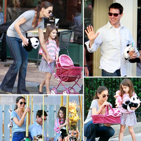 Suri Cruise Pushes Her Stroller Out With Tom and Katie in PA