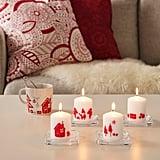 Vinterfest Santa Claus Unscented Block Candles