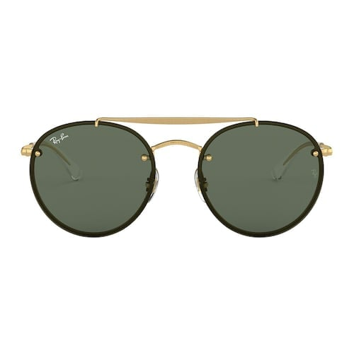 Unisex Ray-Ban Highstreet RB3614 54mm Metal Round Sunglasses