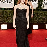 Jessica Chastain made a glamorous arrival on the Golden Globes red carpet.