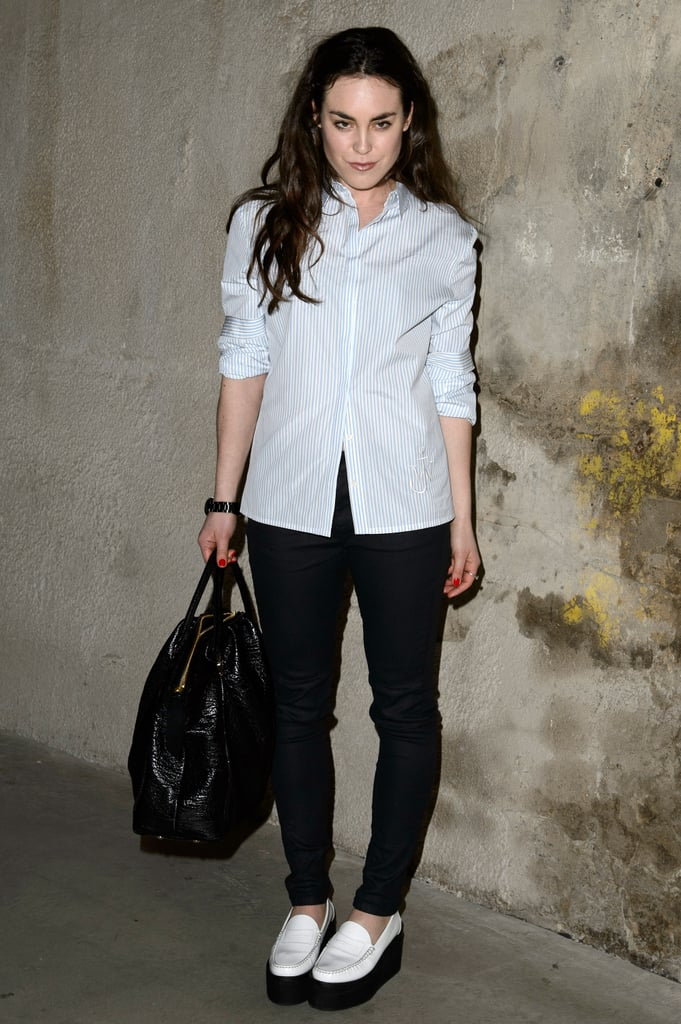 Tallulah Harlech at the Topshop Unique Fall 2013 show in London.