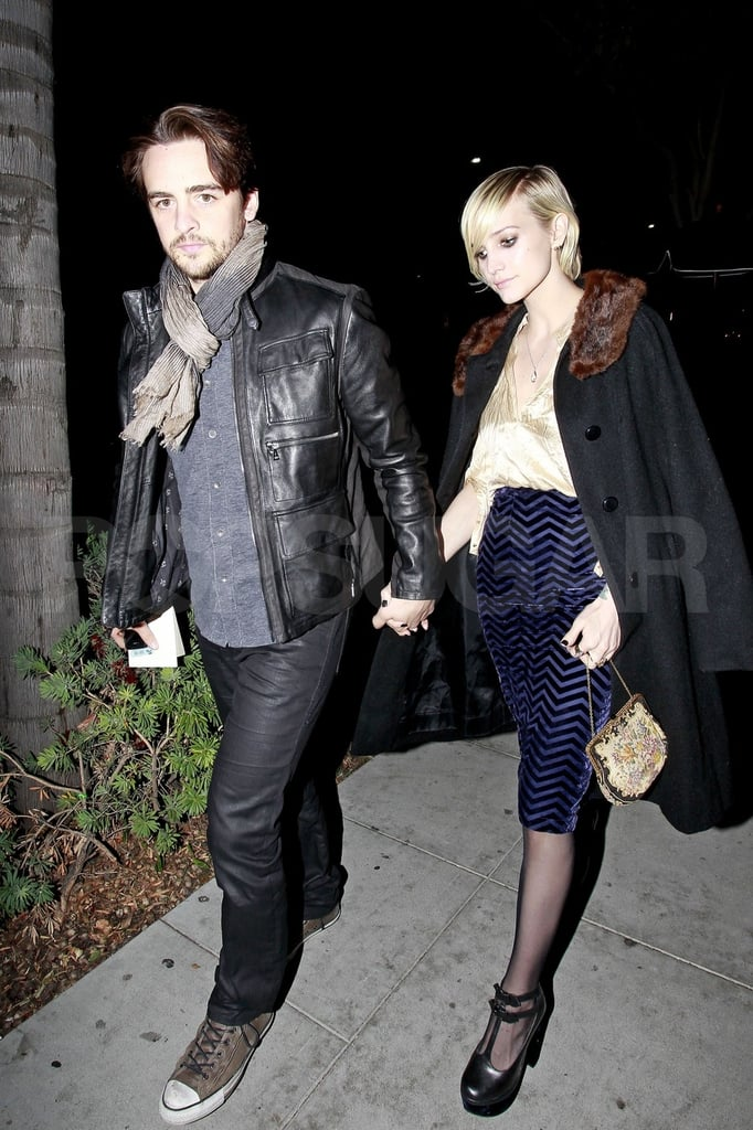 Ashlee Simpson and Vincent Piazza were out in LA for her mom's birthday.