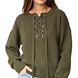 Endless Rose Lace Up Sweater ($94)