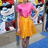 Jayma Mays was among the celebrities who attended the LA premiere.