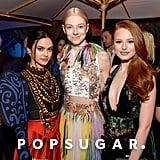 Camila Mendes, Hunter Schafer, and Madelaine Petsch at the Vanity Fair Oscars Party