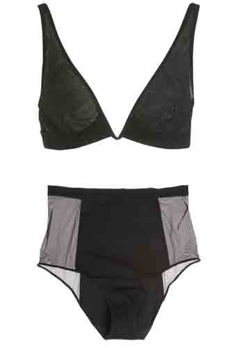 La Perla Triangle Bra ($249) and High Waisted Brief ($144)